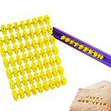 Kuchenform Alphabet Anzahl & Brief Cookie Keks-Stempel Embosser Cutter Fondant, Make DIY Werkzeug...