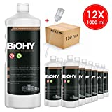 BIOHY Universal Flüssig-Entkalker 12 x 1 Liter Flaschen + Dosierer | Konzentrat für ca. 20...
