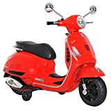 HOMCOM Elektrisches Kindermotorrad Elektro Motorrad Kinderauto Spielzeug Vespa Rot L102 x B50,5 x...