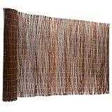Floordirekt Weidenzaun | 5 Gren | Weidematte | Weidenmatte | Sichtschutz | Dekorative Zune (150x500...