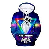 Heiße Nacht der Marshmallow Bastion Frühling und Herbst Style Fashion Casual 3D Hoodie