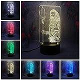3d hero haiwang 7 farbwechsel nachtlicht led tischlampe für schlafzimmer wohnzimmer dekor neuheit...