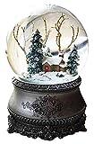 Wichtelstube-Kollektion LED Schneekugel Winterwald elektr. Schneewirbel, viele Melodien und...