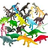 Zoo World Figuren von Dinosauriern,72 Stücke Mini-Dinosaurier-Set,sicheres Material,Gemsichte...