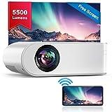 WiFi Beamer, YABER V2 Mini Beamer 5500 Lumen Unterstützt 1080P Full HD, HiFi-Sound, Projektor...