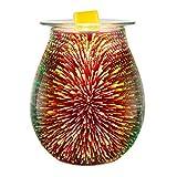 Coosa bunte Glas elektrische Öl wärmer Kerze Wachs Torte Brenner Weihrauch Öl wärmer Duft...
