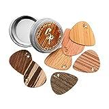 Stickpick | Set mit 7 flexiblen Gitarrenplektren aus edlem Echtholz | für E-, Akustik, und...