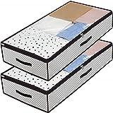 Kevin Bin 2 Stück Unterbetttasche, Unterbettkommode, Unterbett-Aufbewahrungstasche, Kleidung...