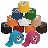 BB Sport 12 Rollen Kinesiologie Tape 5 cm x 5 m E-Book Anwendungsbroschüre Elastisches Tape Set,...