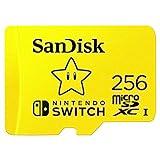 SanDisk microSDXC UHS-I Speicherkarte für Nintendo Switch 256 GB (V30, U3, C10, A1, 100 MB/s...