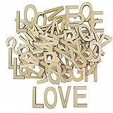 K7plus Vintage Holzbuchstaben Buchstaben Natur XL aus Holz Alphabet ABC 104 TLG.