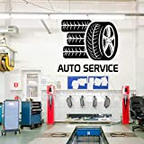 sanzangtang Autoreparatur Glas Aufkleber Reifen Modellierung Wandaufkleber Reparatur...