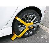 ECD Germany Radkralle Parkkralle für 13-17 Zoll Räder aus Stahl mit 2 Schlüsseln - Robuste...