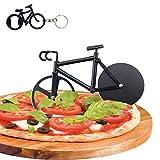 Fahrrad Pizzaschneider, Antihaftbeschichteter Edelstahl Pizza Schneider Lustiger Pizzaroller, Doppel...