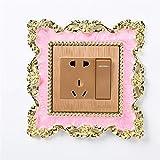 JOOFFF Lichtschalter Aufkleber Abdeckung, Rose quadratische Form Kunstharz Aufkleber Home Decor...