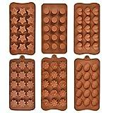 OFNMY Silikonform für Schokolade, Lebensmittelqualität, Antihaftbeschichtung, BPA-frei, für...