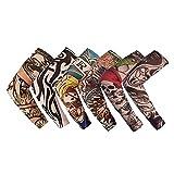 Sportliche Armmanschette 6pcs / lot Fake Tattoo Arm Sleeves for Männer Frauen Sommer-Art- und...