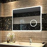 Duschdeluxe LED Spiegel Badspiegel Beleuchtung 80 x 60 cm Badezimmerspiegel Lichtspiegel Wandspiegel...
