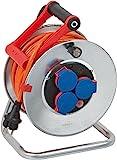 Brennenstuhl Garant S IP44 Kabeltrommel (25m Kabel in orange, Stahlblech, Einsatz im Außenbereich,...