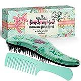 Haarbürste und Kamm als Set, um Haar zu entwirren, die beste Bürste für nasses oder trockenes...