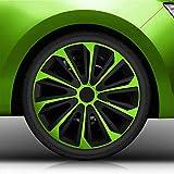 Autoteppich Stylers 15' 15 Zoll Radkappen/Radzierblenden Nr.006 (Farbe Schwarz-Grün), passend für...