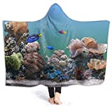 Lawenp Hooded Blanket Aquarium Cabinet Blanket Hoodie Tragbarer, superweicher...