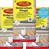 Aeroxon Mottenschutz-Hänger - 3x2 Stück - NEU vollkommen geruchlos - Verlässliche, starke und...