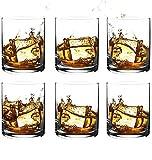 [6-Pack, 350ml/11.8oz] Design·Master – Premium Whiskey Gläser, Rock Style altmodische Gläser...
