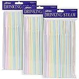 [300 Pack] Olycism Plastikstrohhalme Trinkhalme Einwegstrohhalme BPA Free Bulk Trinken Lieferanten...