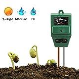 Vegena Boden Feuchtigkeit Meter,Bodentester,3-in-1 Pflanze Tester, Boden-pH und Feuchte,...