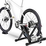 Yaheetech Fahrrad Rollentrainer Stahl Rollentrainer Fluid Bike Trainer Klappbar Radtrainer für...