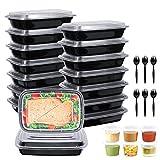 Gifort 16PACK Meal Prep Container mit Deckel, BPA-freie Wiederverwendbare Frischhaltedosen, Tragbar,...