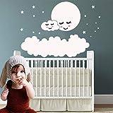 ASFGA Baby Zimmer Mond Br Schmetterling Wandaufkleber niedlichen Wandaufkleber Kinderzimmer...