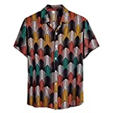 Kolila Herren Hawaii Shirts Hemden Perfekter Urlaub T Shirt T-Shirts Sommermode Mehrfarbig...