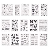 PandaHall Elite - 15pcs Buffer/Seal Silikon Seal Pattern Transparent Silikon Stempel für DIY...