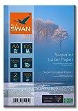 BLUE SWAN 200 Blatt Superior Colour Laser Fotopapier Flyer Papier A4, 105g/qm, Glossy,glaenzend,...