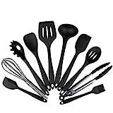 AVANA Silikon Küchenhelfer Set, 10 Stück Küchenutensilien Kochgeschirr Hitzebeständig...