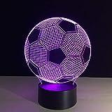 7 Farben ändern 3D Illusion Lampe Fußball Nachtlicht Visuelle Lichter Schreibtisch Luminaria USB...