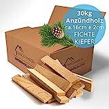 30kg Anzündholz Anfeuerholz Anmachholz Brennholz Kaminholz Ofenholz Smoker Grill BBQ Trocken...