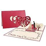 Unomor Hochzeitskarten 3d Glückwunschkarte Hochzeit Pop Up mit Umschlag für die Hochzeit...