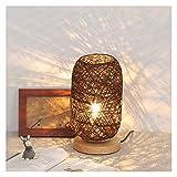 Awsspd Tischlampe Holz Rattan Twine Kugelleuchten Tischlampe Room Home...