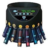 Automatischer Euro Münzzähler & -sortierer Geldzählmaschine SR1200 mit Abhülsung Geldzähler...