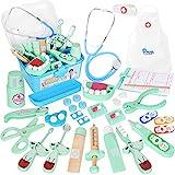 Vanplay Arztkoffer Holz Doktor Spielzeug mit Echt Stethoskop für Kinder Blau Rollenspiel Geschenk...