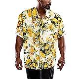 LOPADE Männer Hawaiian Hemden Kurzarm Front Tasche Urlaub Sommer Aloha Printed Beach Casual Hawaii...