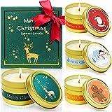 LA BELLEFE Duftkerzen Geschenkset, 100% Sojawachs Aromatherapie Tragbare Zinnkerzen Weihnachten...