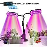SKEY Pflanzenlampe, 48 LED Pflanzenlicht mit Loop-Automatik-Timer, Automatische EIN- / Ausschalten,...
