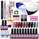Saint-Acior 36W UV +LED Nagellampe Starterset 10x Gel Lacken fr UV Nageldesign Gelngel Nagelset uv...