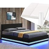 ArtLife LED Polsterbett Toulouse 180 × 200 cm mit Matratze, Lattenrost & Bettkasten - Kunstleder...