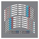 Mrjg Aufkleber Neue hochwertige 12 stücke passen Motorrad Rad Aufkleber Streifen reflektierende...