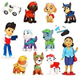 YNK Paw Dog Patrol Tortenfiguren Set, 12 Stück Paw Dog Patrol Geburtstag Dekoration, Geburtstags...